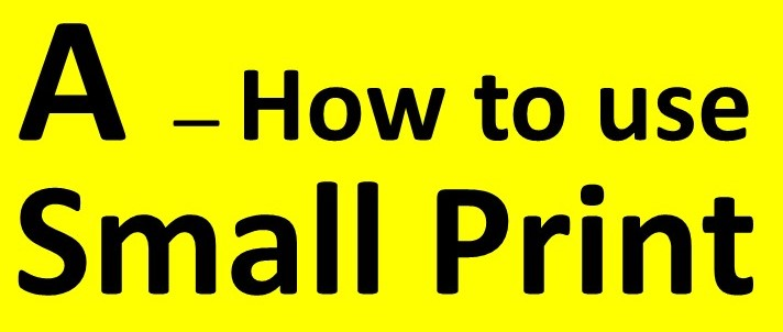 A01 - HOW TO USE SMALL PRINT - group marker & contents - v2